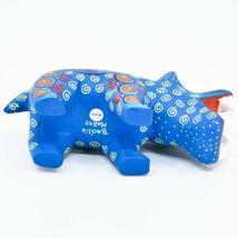 Handmade Alebrijes Oaxacan Wood Carved Painted Folk Art Hippo Hippopotamus  image 5