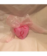 "Breast Cancer Survivor Awareness Pink Heart Ornament 3"". - $9.99"