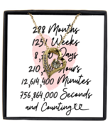 24th Anniversary Message Card Necklace, 24 Year and Counting Anniversary  - £21.78 GBP