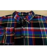 Vtg Ralph Lauren Classic Fit Men's XXL Long Sleeve Soft Flannel Shirt Bl... - $49.49