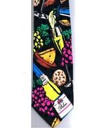 Addiction Necktie Wine Bolero Cheese 100% Silk Made in Canada 1992 - $18.99