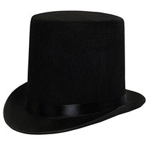 7'' Black Top Hat High Quality Durable Adults Dress Up Party Costume Acc... - €21,51 EUR