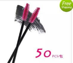 2017 New 50pcs/lot make up brush Pink synthetic fiber Disposable Eyelash... - ₨485.71 INR