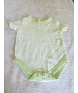 Garanimals 5% Organic Cotton Green/White Striped Bodysuit 3-6 Months - $2.99