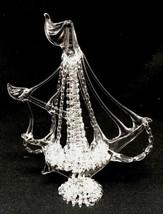 "SAIL BOAT FIGURINE HAND BLOWN SPUN GLASS SCULPTURE 5""H - $44.99"