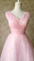 Cute Pink V-neck Short Princess Dress Sleeveless Pink Tutu Birthday Party Dress image 2