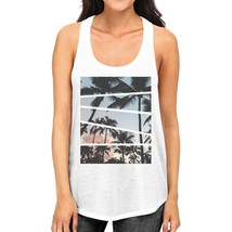 Palm Trees California Sunset Photography Women Graphic Tanks Cotton - $14.99+