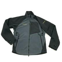 Columbia TITANIUM Fleece Jacket Gray TECH Softshell Size S/M Interchange... - $25.52