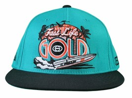 Gold M.V.P. Turquoise Black Fast Life Miami Starter Snapback Baseball Cap Hat NW
