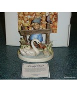 """""""Feathered Friends"""" Goebel Hummel Figurine #344 TMK7 Girl With Swans Wit... - $223.09"""