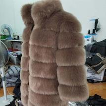Women's Winter Luxury Fashion Faux Fur Shaggy Thicken Warm Coat image 6