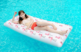 Adults Big Flamingo Inflatable Pool Raft Water Bed Hammock Ride On Float Tube image 4