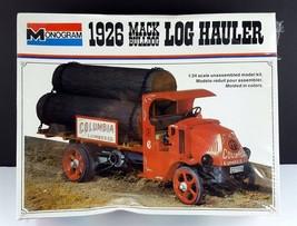 Vintage Monogram 1926 Mack Bulldog Log Hauler Truck 1/24 Model Kit - $39.59