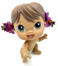 "Hasbro Crib Life Baby Alive Hailey Hula Doll Baby Hawaii 6"" Nude Brown H... - $6.92"