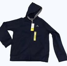 Adidas Youth Boy's Climawarm Full Zip Jacket Collegiate Navy Vista Grey - $27.99