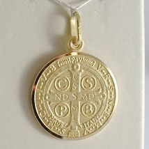 Pendant Yellow Gold Medal 750 18k, Protection, ST. BENEDICT, CROSS, SOLID image 5