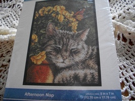 Bucilla Afternoon Nap Counted Cross Stitch Kit - $14.00