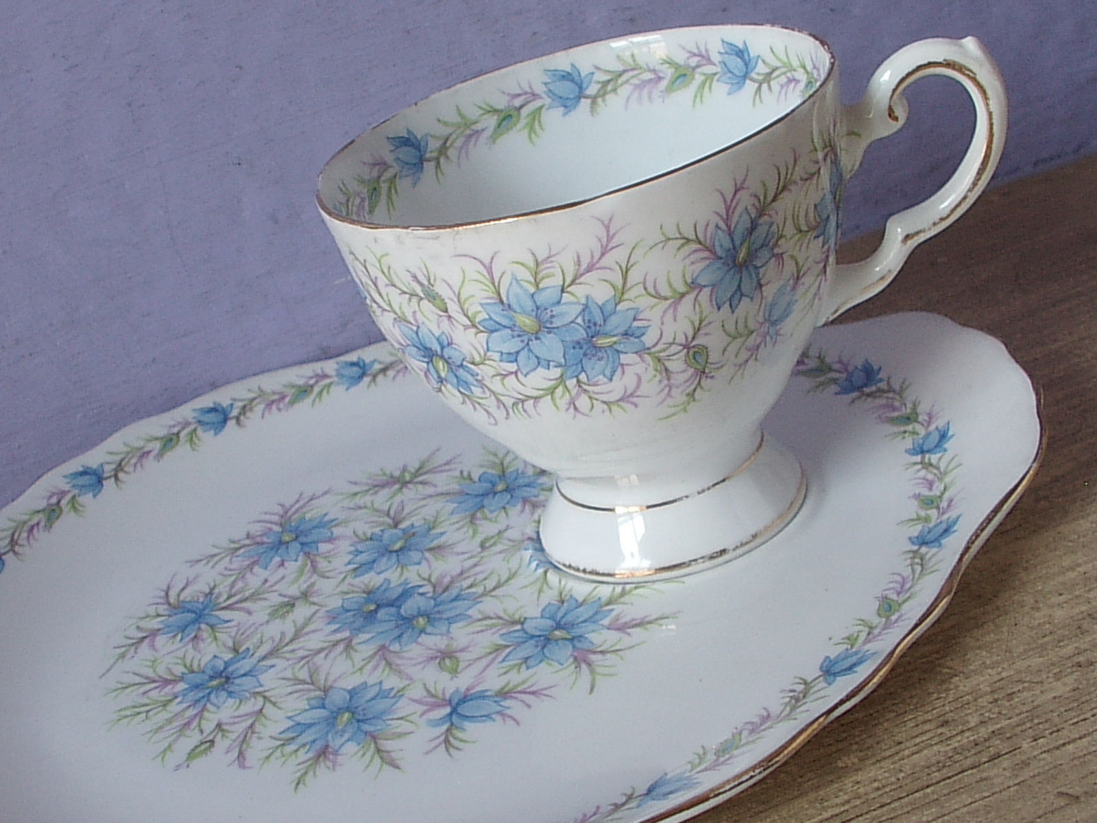 vintage tuscan trio white floral cup saucer /& plate