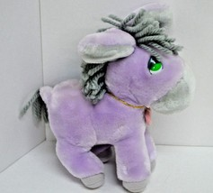 Vintage Applause Precious Moments Horse Roly Plush Purple Heart Locket 9... - $19.27
