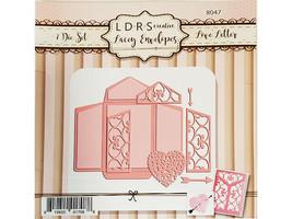 NEW! LDRS Creative Metal Die Lacey Envelopes Love Letter #8047