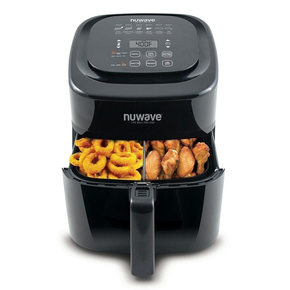 6 Qt Digital Air Fryer Black Non Stick Kitchen Dining Healthy Cook Eat Taste New