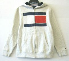 Tommy Hilfiger NWT $45 Big Boys Zip-Hoodie Jacket Oat Heather Size M/12-14 KD718 image 4