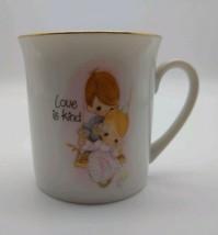 1984 Precious Moments Boy &  Girl LOVE IS KIND mini cup espresso - $7.89