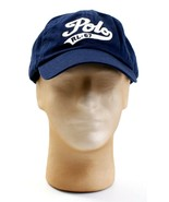 Polo Ralph Lauren Blue Adjustable Leather Strap Cap Hat Adult One Size NWT - $64.34