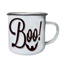 Halloween Boo Or Treat Retro,Tin, Enamel 10oz Mug q987e - $13.13