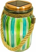 Sogrand Green Stripe Copper Cap Glass Solar Jar