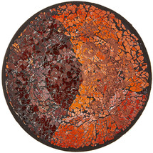 Up Words By Pavilion Rootbeer Color Mosaic Glass Candle Plate, 8-Inch - $64.70