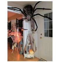 """53"""" Black Spider Halloween Prop With Light Up Eyes, Furry Body - $247.49"""