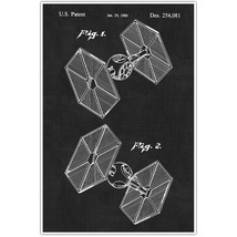 Star Wars Tie Fighter Patent Blueprint , Toys and Games Photo Art - $11.39+