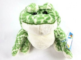 """Ganz Webkinz Frog 9"""" Plush Green White Spotted Toad Stuffed Animal SEALE... - $16.92"""