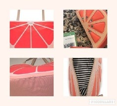 NWT Kate Spade Flights of Fancy Pink Grapefruit Large Tote & Coin Case - ₨9,549.27 INR