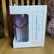 Cupcakes & Cashmere Home Rosé Purple Tall Stemmed Wine Glasses Set of 4 NIB - $29.70