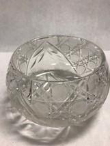 cut Crystal Bowl Centerpiece Vintage Glass Serving Flowers american Bril... - $39.59