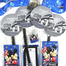 Disneyland Travel Mickey Minnie Lanyard Pin Luggage ID Tags Coasters 9 I... - $33.76