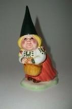 Gnome Elf Figurine UNIEBOEK Gorham LADY with Basket 1980 Vintage - $14.99