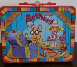"Vintage 1997 ~ ""Arthur!"" Metal Lunchbox ~ Collectible Box ~ 6"" x 7.75"" x... - $23.76"
