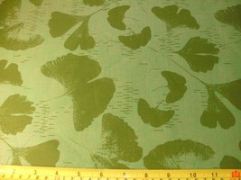 1/2 Yd Andover Decorator Craft Fabric Flower Leaf Petal Butterfly Olive ... - $5.09