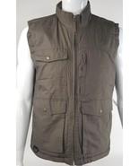 Northwest Territory Small Full Zip Outdoors Fleece Lined Cargo Vest Taup... - $22.15