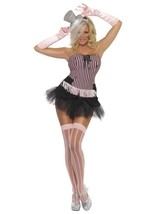 Fever Fringe Stripe Burlesque Costume, UK Dress 12-14 - $48.59