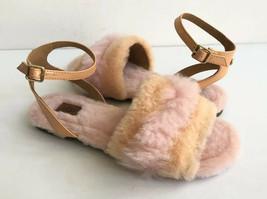 Ugg Fluff Fest Sunkissed Shearling Strap Sandals Us 6.5 / Eu 37.5 / Uk 4.5 - $74.79