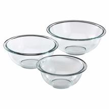 Pyrex Glass Mixing Bowl Set 3-Piece - $339,24 MXN