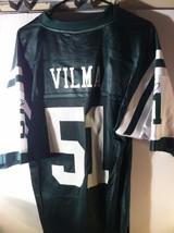 NEW YORK JETS  VILMA #51 JERSEY--SIZE M--REEBOK--NFL--- FREE SHIP--VGC - $26.09