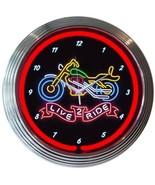 """Live 2 Ride Neon Clock 15""""x15"""" - $59.00"""