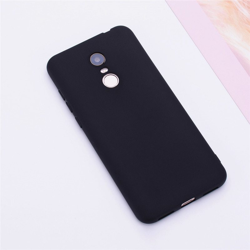 Primary image for Color Matte Phone Cases For Xiaomi Redmi / Case Silicone Soft (Black)