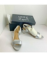 New Naturalizer Womens Sz 8 M Tinda Soft Silver Sandals 2.5 in Heels Shoes - $28.04
