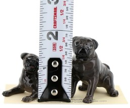 Hagen Renaker Dogs Pug Mama and Baby Black Ceramic Figurine image 2
